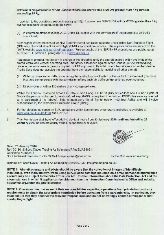 CAA Certificate